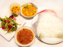 minced chicken curry set